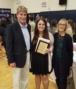 2017 SoSide Varsity S Award - Elizabeth Navarino_