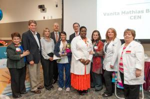 2017 Winthrop Univ. Hospital,  Vanita Mathias, administration and staff
